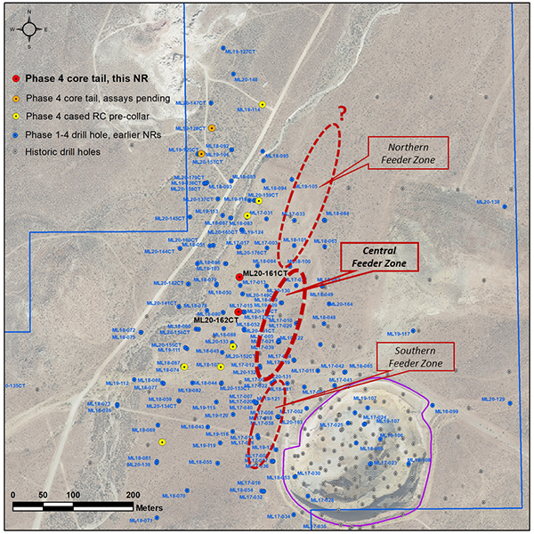 Figure 1 Location Map: Mother Lode drill hole ML20-161CT & 162CT