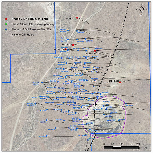 Location of new holes at Mother Lode deposit, Nevada